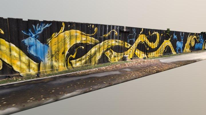 Melbourne Mural 3D Model