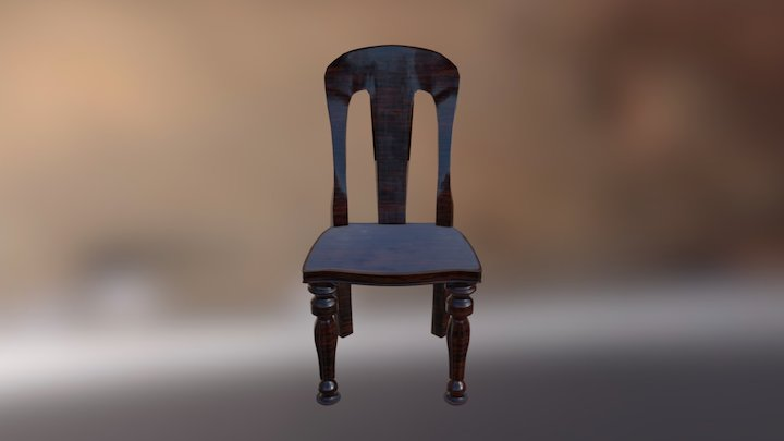 Victorian Dining Chair 3D Model