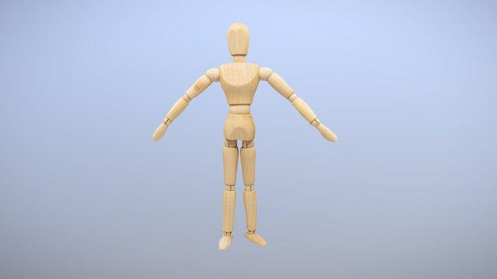 Wood Mannequin scan 3D Model