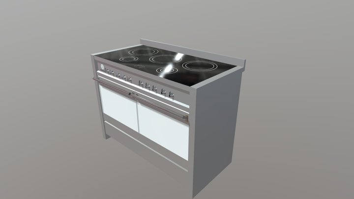 1200-FREESTANDING-MODERN-COOKER 3D Model