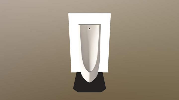 T○T○ US900系っぽい小便器 / Japanese modern urinal 3D Model