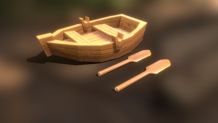 Pirate Rowing Boat 3D Model