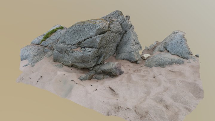 Vesicular ventifact, Blackwaterfoot, Arran 3D Model