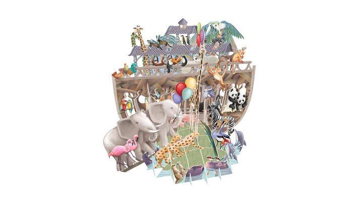 Noah's Ark Pop Up Greetings Card 3D Model