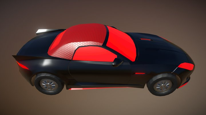Jaguar F-Type Convertible 3D Model