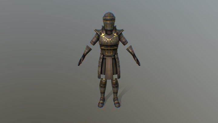 Lowpoly Armor 3D Model
