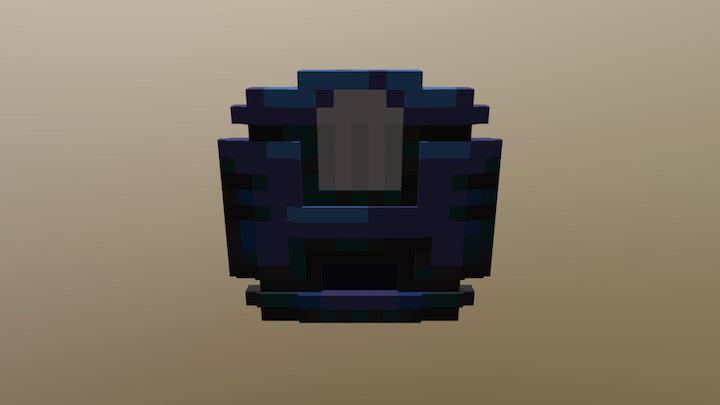 blue armor shard flat 3D Model