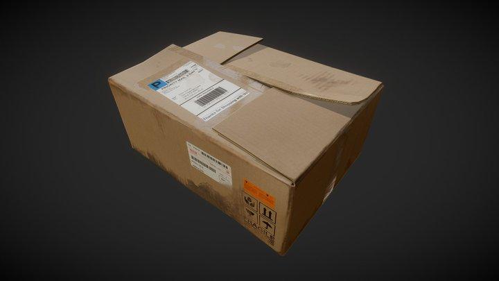 Cardboard Box 3D Model
