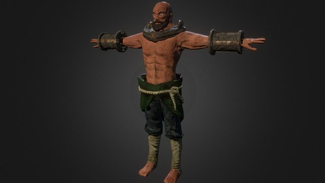 Third person action game - Main character model 3D Model