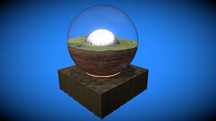 Sound Dome Glass Globe 3D Model