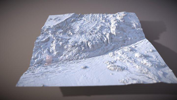 Challenger Deep (MapBox Outdoors) 3D Model