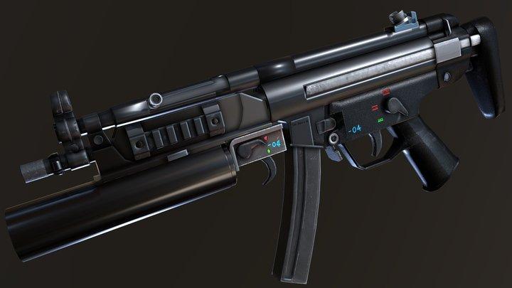 MP5 & Grenade Launcher 3D Model