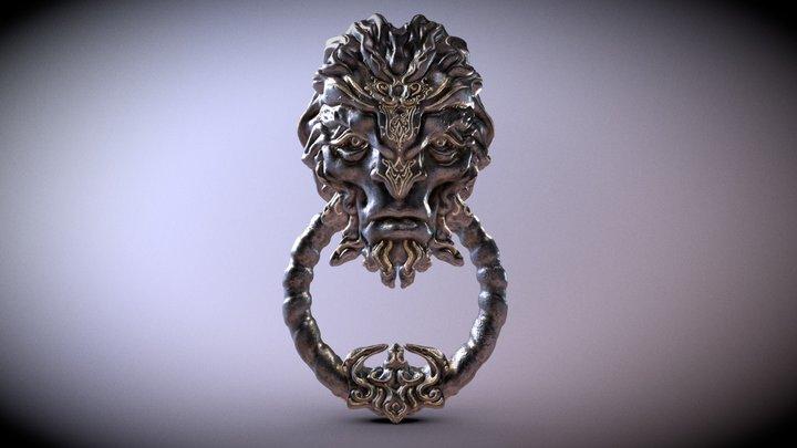 Fantasy/Gothic Door Knob #6 3D Model