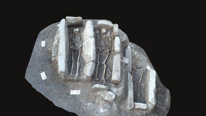 Tumbas medievales Iuliobriga 3D Model