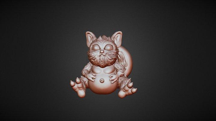 Cute squirrel monster 3D Model