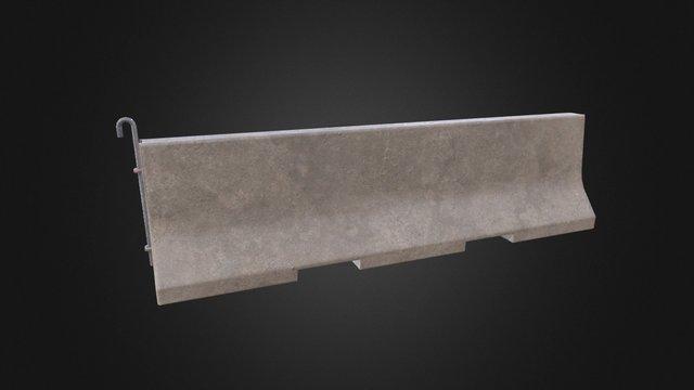 Concrete Barrier v1_1 3D Model