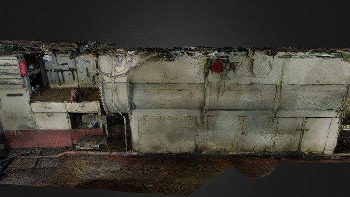 Maskinrom Styrbord side 3D Model