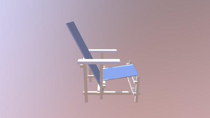 Chaise Rietveld 3D Model