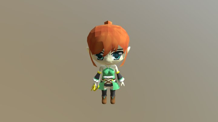 Cecilia (Attacking) 3D Model