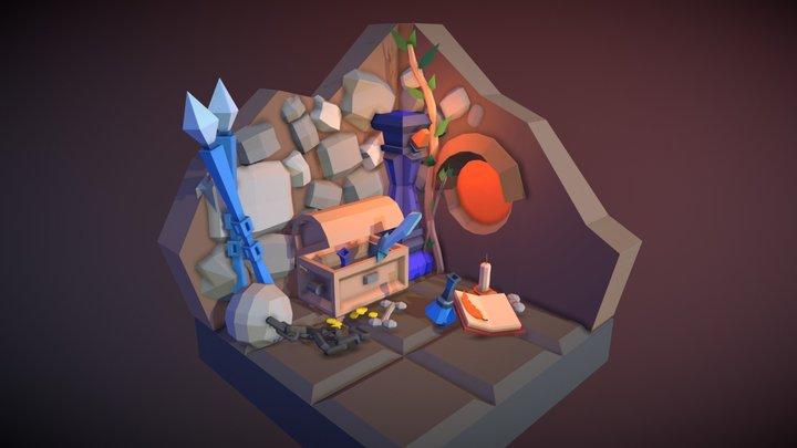 Medieval Fantasy Dungeon 3D Model