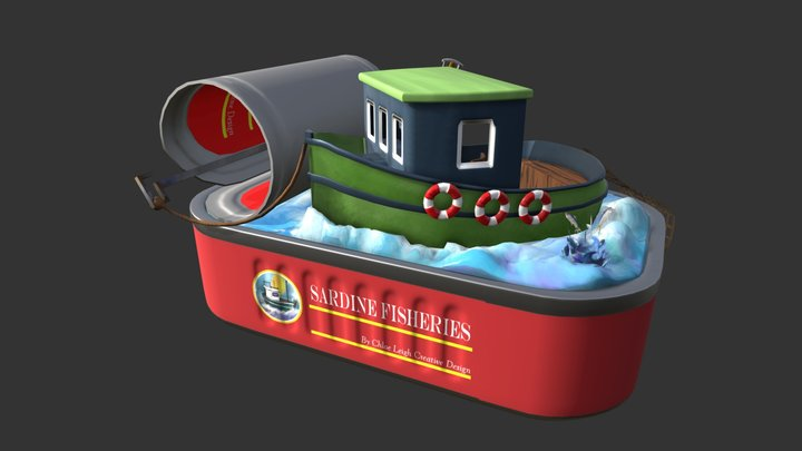 Sardine Boat 3D Model