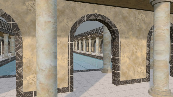 Swimming Pool - Nouveau Roman Classical 25 m 3D Model