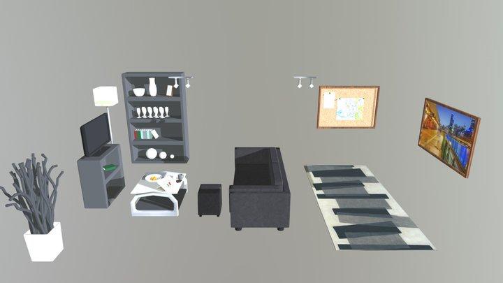 Tribute Room Assets 3D Model