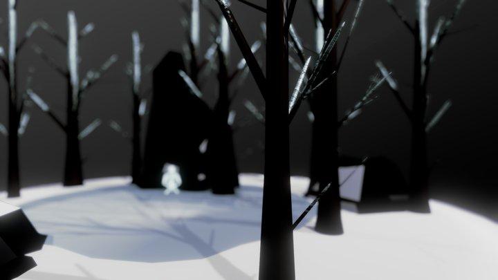 Snow Scene 3D Model