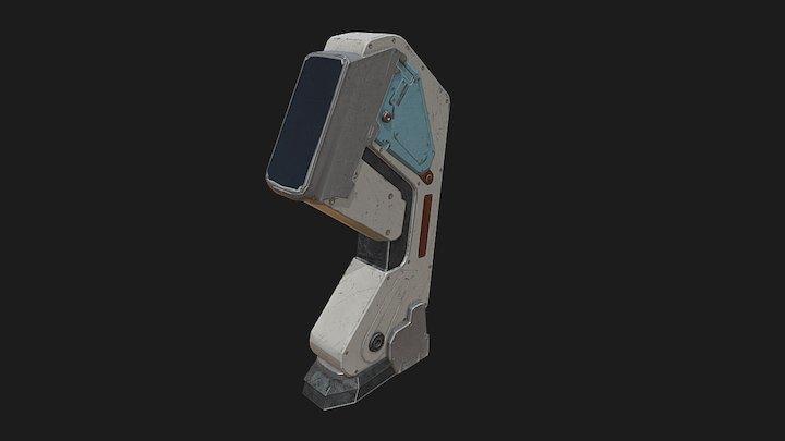 SciFi Console 3D Model