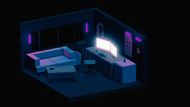 Room Isometric 3D Model