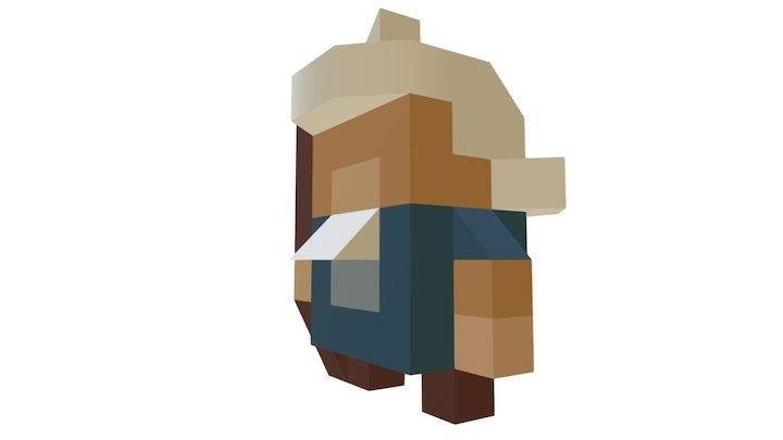 8 Bit Wizard Angles 3D Model