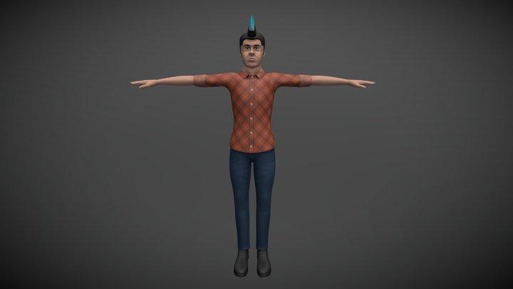 Education Simulation Male Teacher 3D Model