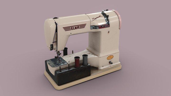 Vintage sewing machine 3D Model