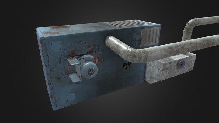 Old industrial ventilator 3D Model