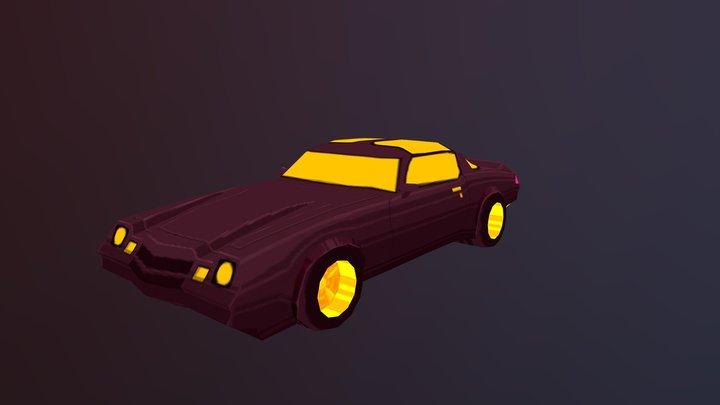 1981 Camaro Z28 Drift Stage Style 3D Model