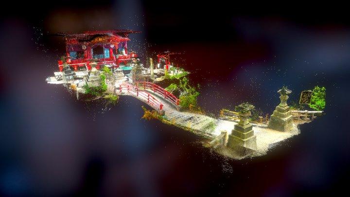 Inokashira Park Benten Shrine 3D Model