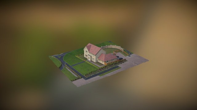 3D Model of Recently Constructed Detached Home 3D Model