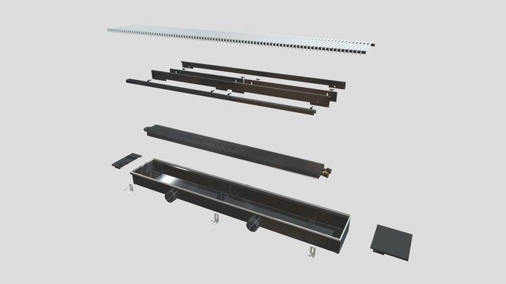 """Внутрипольный конвектор """"Гольфстрим"""" КПК 3D Model"""
