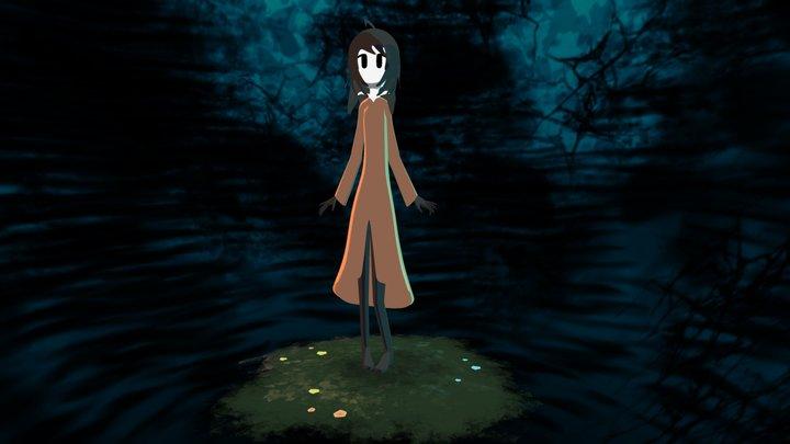Girl of a Dark Fairy Tale 3D Model