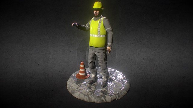 Worker Rigged 3D Model