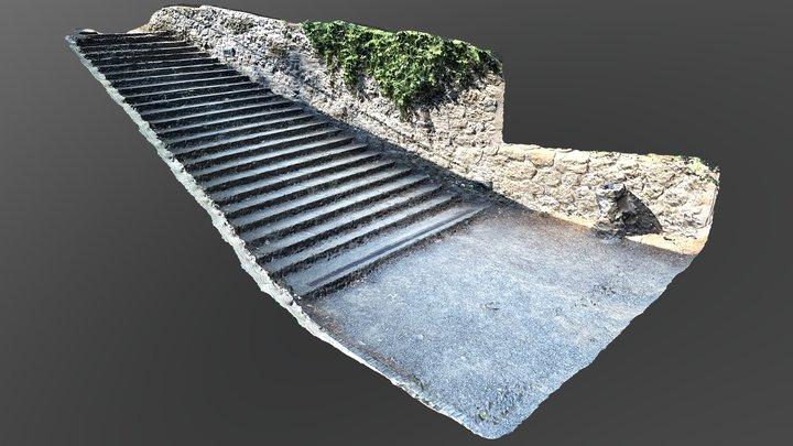 Stairs 01 3D Model