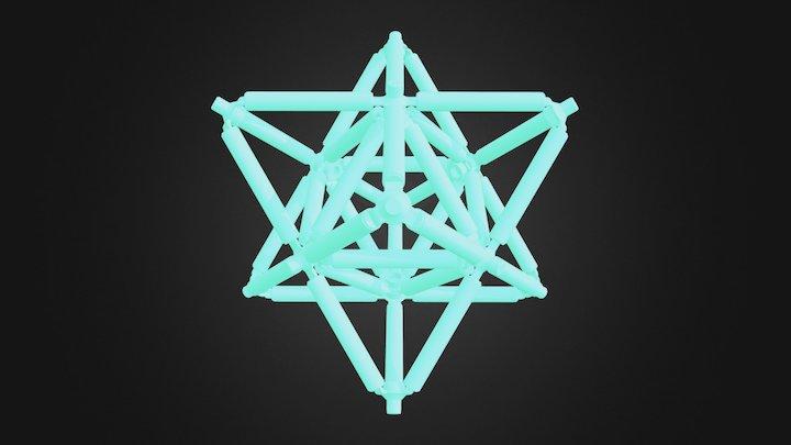 Stellated Octahedron (Star Tetrahedron) 3D Model