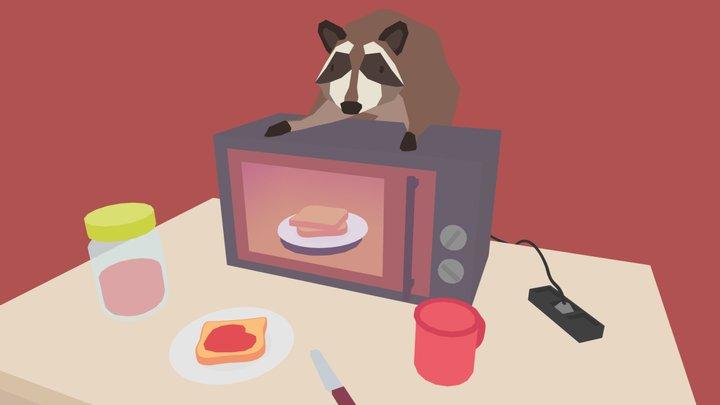Raccoon Burglar 3D Model