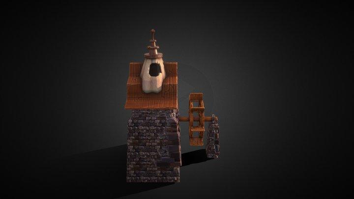 Fantasy Mill 3D Model