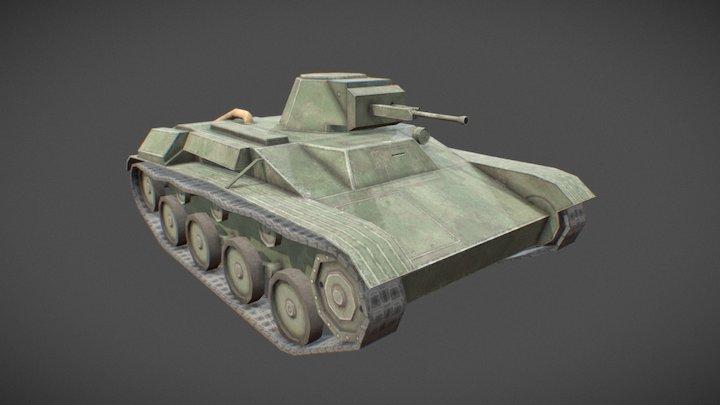 T-60 Toon Tank 3D Model