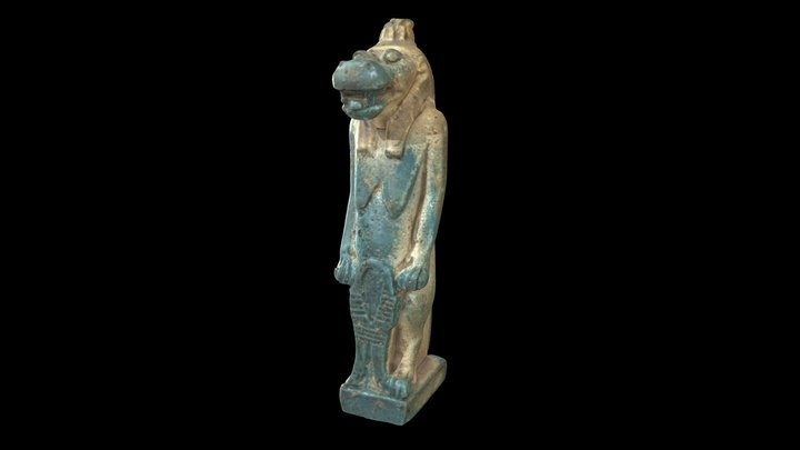 Goddess Taweret (Thoueris) figurine 3D Model