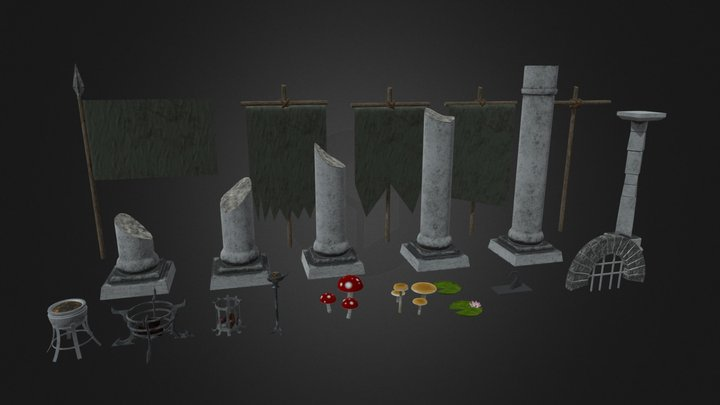 Note of Arms Environment Assets Set 2 3D Model