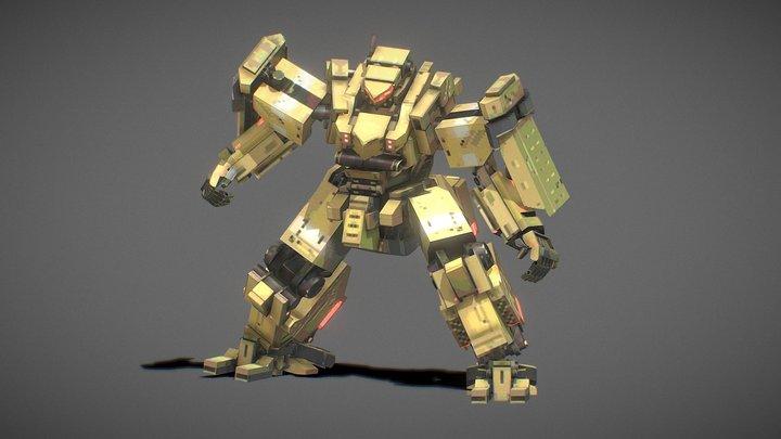 Kriegsfront Mecha concept 3D Model