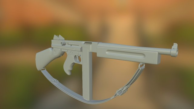 Thompson M1A1 Updated 3D Model