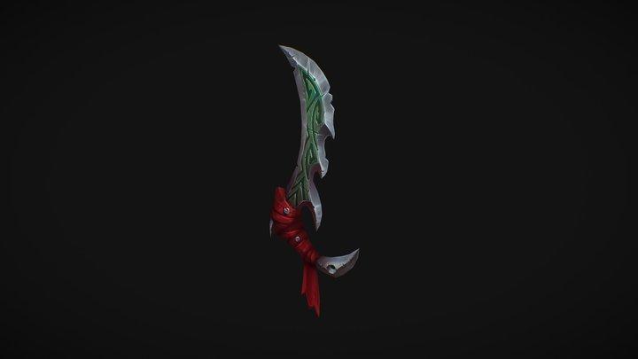Hand_Painted_Dagger 3D Model